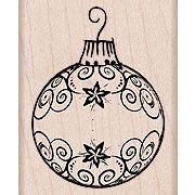Hero Arts - Woodblock - Christmas - Wood Mounted Stamps - Flourish Ornament