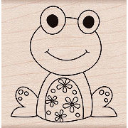 Hero Arts - Woodblock - Wood Mounted Stamps - Flower Frog