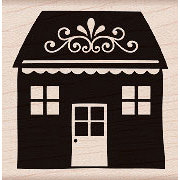 Hero Arts - Woodblock - Wood Mounted Stamps - Home with Flourish