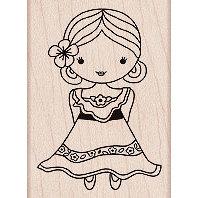 Hero Arts - Woodblock - Wood Mounted Stamps - Flamenco Dancer