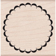 Hero Arts - Woodblock - Wood Mounted Stamps - Fancy Circle