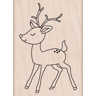 Hero Arts - Woodblock - Christmas - Wood Mounted Stamps - Baby Reindeer