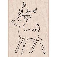 Hero Arts - Woodblock - Christmas - Wood Mounted Stamps - Baby Reindeer