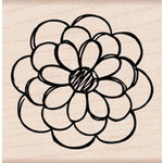Hero Arts - Woodblock - Wood Mounted Stamps - Hand Drawn Small Flower