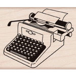 Hero Arts - Woodblock - Wood Mounted Stamps - Retro Typewriter