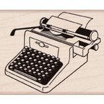 Hero Arts - Woodblock - Wood Mounted Stamps - Retro Typewriter