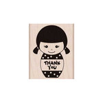 Hero Arts - Woodblock - Wood Mounted Stamps - Thank You Girl