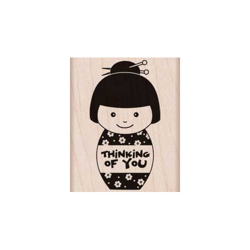 Hero Arts - Woodblock - Wood Mounted Stamps - Thinking of You Girl