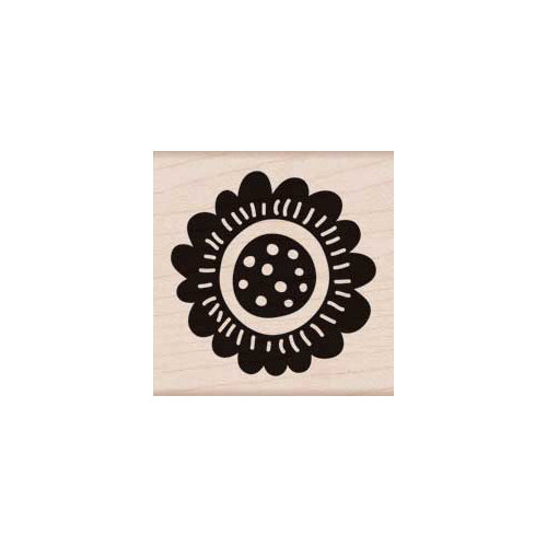 Hero Arts - Woodblock - Wood Mounted Stamps - Scalloped Flower