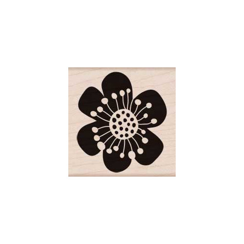 Hero Arts - Woodblock - Wood Mounted Stamps - Six Petal Flower