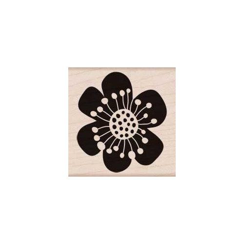 Hero Arts - Woodblock - Wood Mounted Stamps - Six Petal Flower