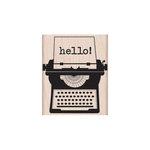 Hero Arts - Woodblock - Wood Mounted Stamps - Hello Typewriter