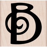 Hero Arts - Woodblock - Wood Mounted Stamps - Swirl B