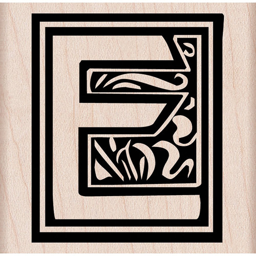 Hero Arts - Woodblock - Wood Mounted Stamps - Illuminated E