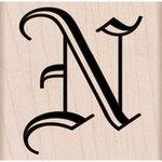 Hero Arts - Woodblock - Wood Mounted Stamps - Old English N