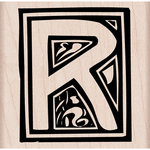 Hero Arts - Woodblock - Wood Mounted Stamps - Illuminated R
