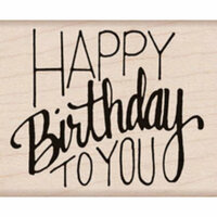 Hero Arts - Woodblock - Wood Mounted Stamps - Happy Birthday To You