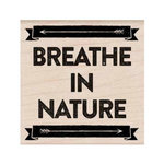 Hero Arts - Adventure Collection - Woodblock - Wood Mounted Stamps - Breathe In Nature