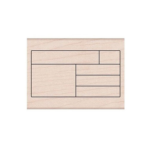 Hero Arts - Woodblock - Wood Mounted Stamps - Box Grid Planner