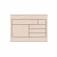 Hero Arts - Woodblock - Wood Mounted Stamps - Box Grid Planner