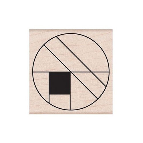 Hero Arts - Woodblock - Wood Mounted Stamps - Large Circle Grid