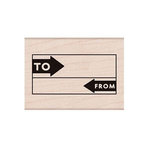 Hero Arts - Woodblock - Wood Mounted Stamps - To From Grid
