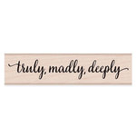 Hero Arts - Woodblock - Wood Mounted Stamps - Truly, Madly, Deeply