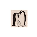 Hero Arts - Woodblock - Wood Mounted Stamps - Penguin Family