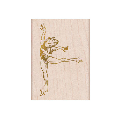 Hero Arts - From The Vault - Woodblock - Wood Mounted Stamps - Dancing Frog