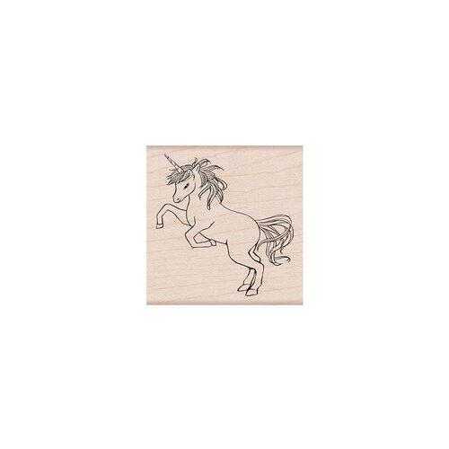 Hero Arts - Woodblock - Wood Mounted Stamps - Wild Unicorn