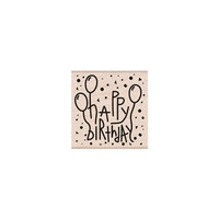 Hero Arts - Woodblock - Wood Mounted Stamps - Happy Birthday Confetti and Balloons