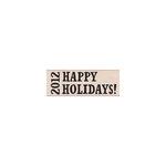 Hero Arts - Woodblock - Christmas - Wood Mounted Stamps - 2012 Happy Holidays