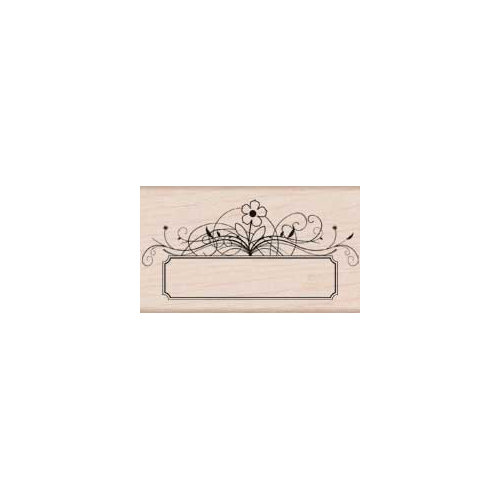 Hero Arts - Woodblock - Wood Mounted Stamps - Flower Message Tag