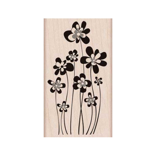 Hero Arts - Woodblock - Wood Mounted Stamps - Jumping Flowers