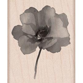 Hero Arts - Wood Block - Wood Mounted Stamp - Painted Poppy