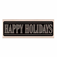 Hero Arts - Woodblock - Christmas - Wood Mounted Stamps - Chalkboard Happy Holidays