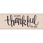 Hero Arts - Woodblock - Wood Mounted Stamps - Thankful