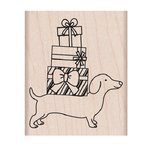 Hero Arts - Woodblock - Christmas - Wood Mounted Stamps - Holiday Dachshund