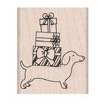 Hero Arts - Woodblock - Christmas - Wood Mounted Stamps - Holiday Dachshund