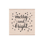 Hero Arts - Lia Griffith Collection - Woodblock - Christmas - Wood Mounted Stamps - Merry and Bright