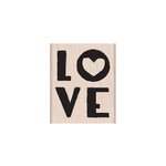 Hero Arts - 2016 Valentines Collection - Woodblock - Wood Mounted Stamps - Love Little Heart