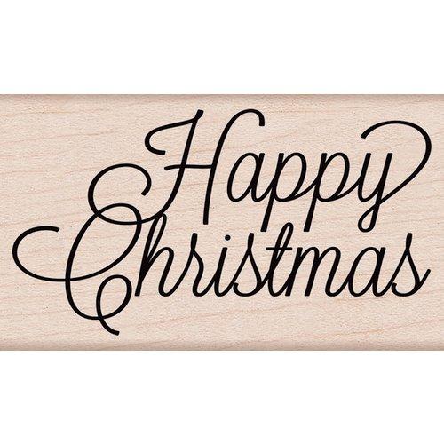 Hero Arts - Woodblock - Wood Mounted Stamps - Happy Christmas Script