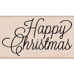 Hero Arts - Woodblock - Wood Mounted Stamps - Happy Christmas Script