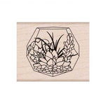Hero Arts - Garden Collection - Woodblock - Wood Mounted Stamps - Succulent Terrarium