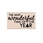 Hero Arts - Christmas - Woodblock - Wood Mounted Stamps - Most Wonderful Time