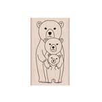 Hero Arts - Woodblock - Wood Mounted Stamps - Bear Family