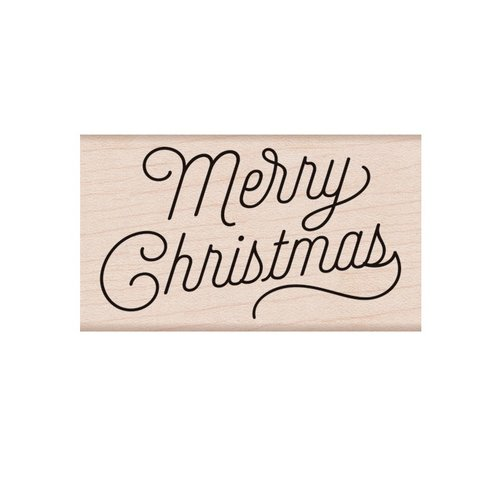Hero Arts - Woodblock - Wood Mounted Stamps - Merry Christmas Script