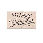 Hero Arts - Woodblock - Wood Mounted Stamps - Merry Christmas Script