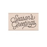 Hero Arts - Christmas - Woodblock - Wood Mounted Stamps - Season's Greetings Script