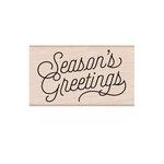 Hero Arts - Christmas - Woodblock - Wood Mounted Stamps - Season's Greetings Script